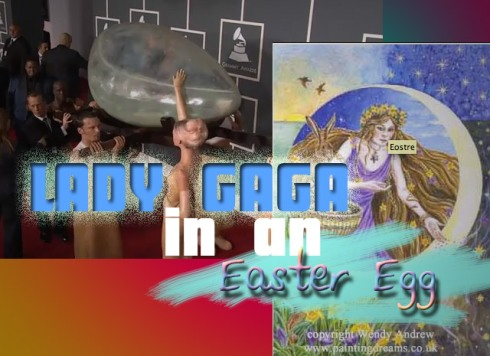 Lady gag in an easter egg